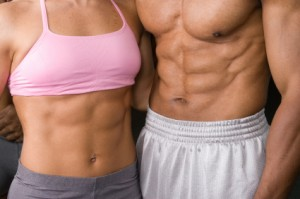 couple Six Pack Abs